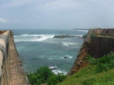 The only area of the fort destroyed by the 2004 Tsunami