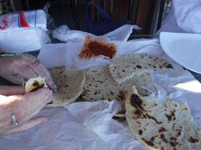 Roti Breakfast in Nuwara Eliya