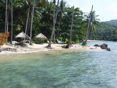 Beautiful turquoise waters off the east coast of Karimunjawa