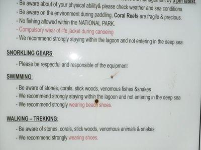 Seaside warnings