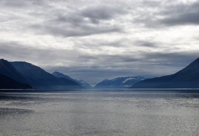 View from the Seward Highway outside Anchorage - Cook Inlet