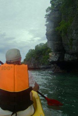 Kayaking in Angthong