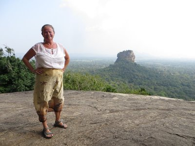 Brenda made it to the top - Pidurangala Rock.