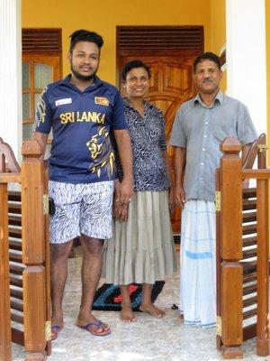 Dilan, Damayandhi and Sisira - our hosts at Sigiri Regal