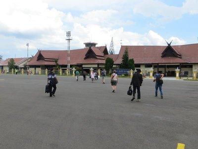 Airport in Pangkalan Bun Kalimantan Indonesia