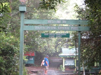 Entering Camp Leakey