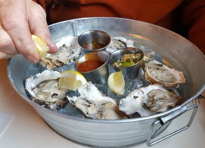 Oysters a la Seasalt Restaurant