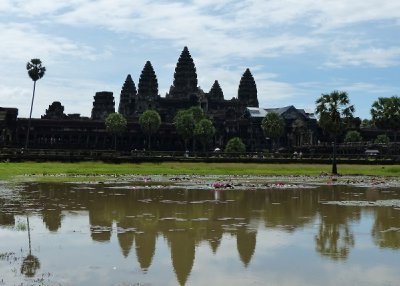 Reflections in the lake at Angkor Wat