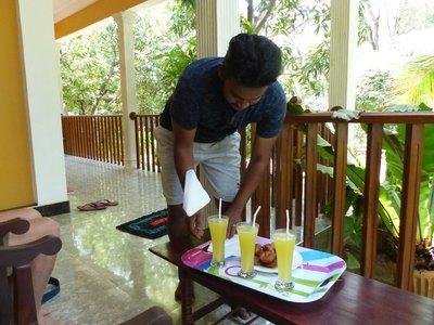Danil with our refreshing drinks