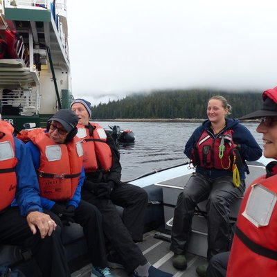 Michelle leading our skiff tour