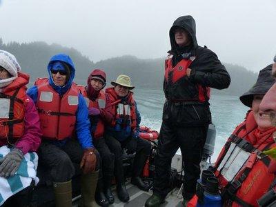 Last skiff tour in the rain