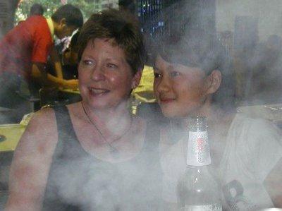 Patty and Joy - hotpot facial