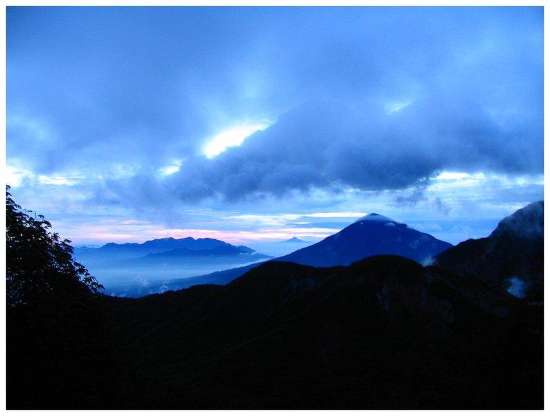 Foggy claudy sunrise