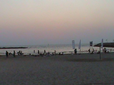 Beach in Tel Aviv at Sunset