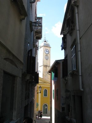Clock tower - peeking through the streets