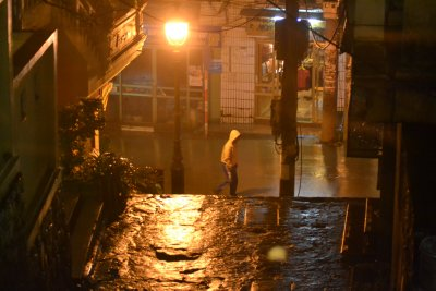 Foggy night street - Sapa