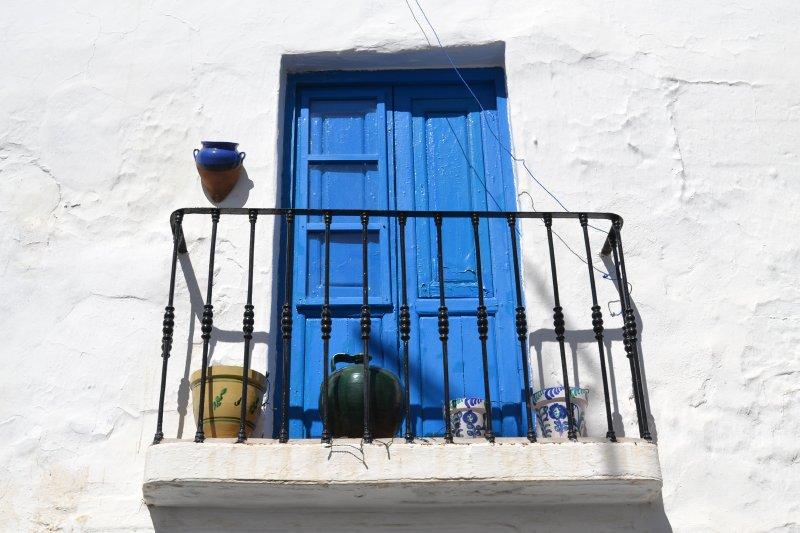 Frigiliana - white washed streets - with a splash of moorish colour