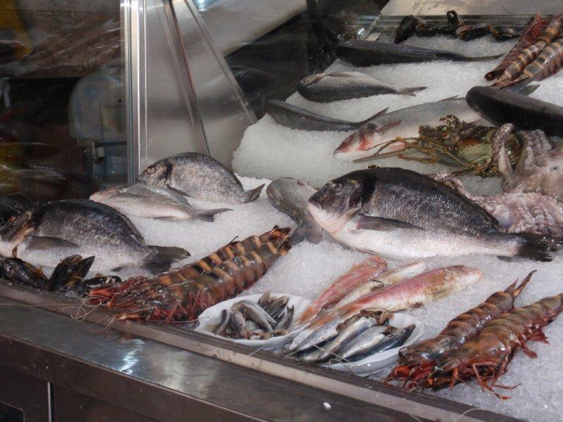 Fish Restaurant Window in Rethymon
