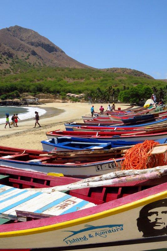 Fishing Boats and Beach