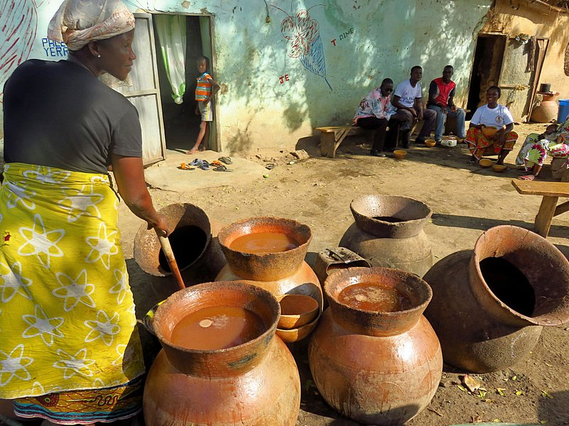 Woman Brewing Millet Beer