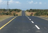 Open road (notice shoulder)