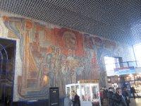 Mural at Nizhny train station