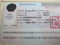 The Mongolian Visa