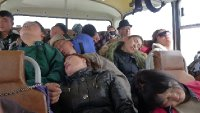 Terrible crowded bus: Mongolia