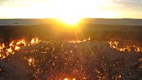 Sunrise over the Gate to Hell