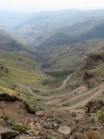 Sani Pass from Above