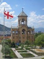 Tsminda Sameba Cathedral Clock Tower