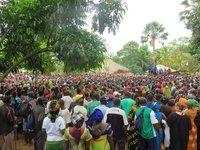 Large festival crowds