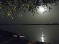 Moonlit river crossing