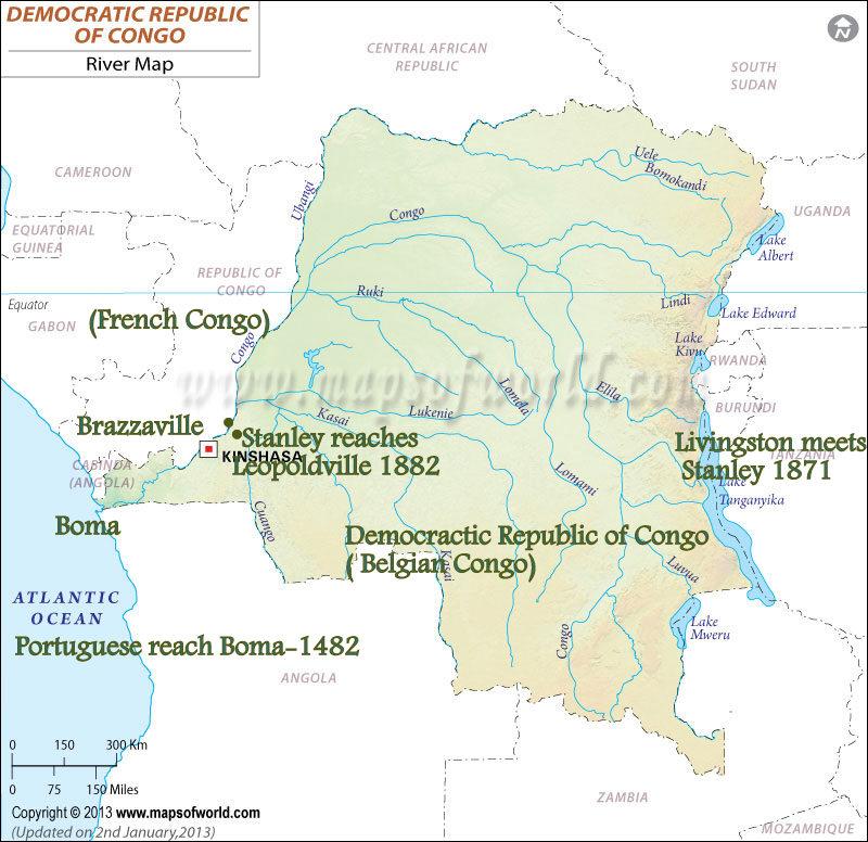 Democraticrepublicofcongorivermap Featured Travel Photos - World map congo river