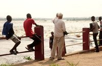 The Congo river separating Brazzaville and Kinshaha on the other side
