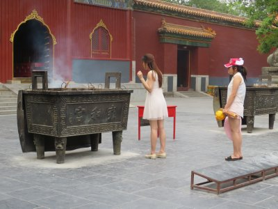 Praying at the Confucius Temple