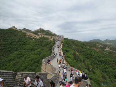 Masses of People on the Great Wall