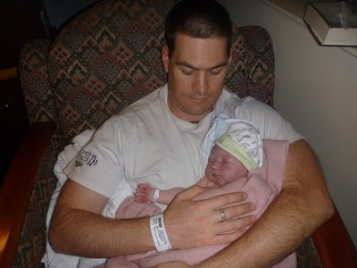 Daddy and Kai (8 hours old)