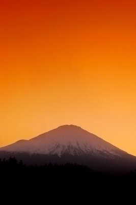 Mt. Fuji sunset from Gotemba, May 2010