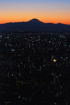 Mt. Fuji from Roppongi Hills, Jan 2009