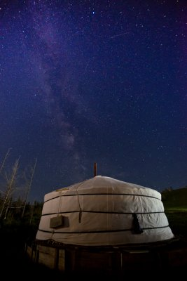 Stars over Terelj national park, Mongolia