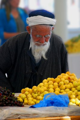 Man in market, Bukhara