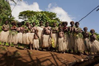 Local dancers, Pentecost Island