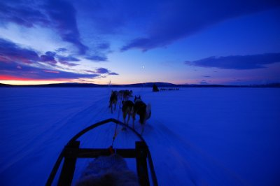 Sunrise/sunset in Swedish Lapland
