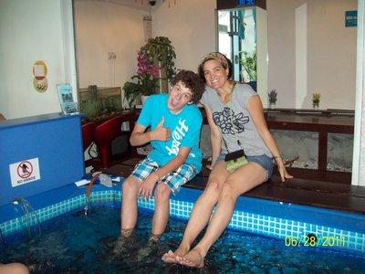 Alex and Lari Pedicure
