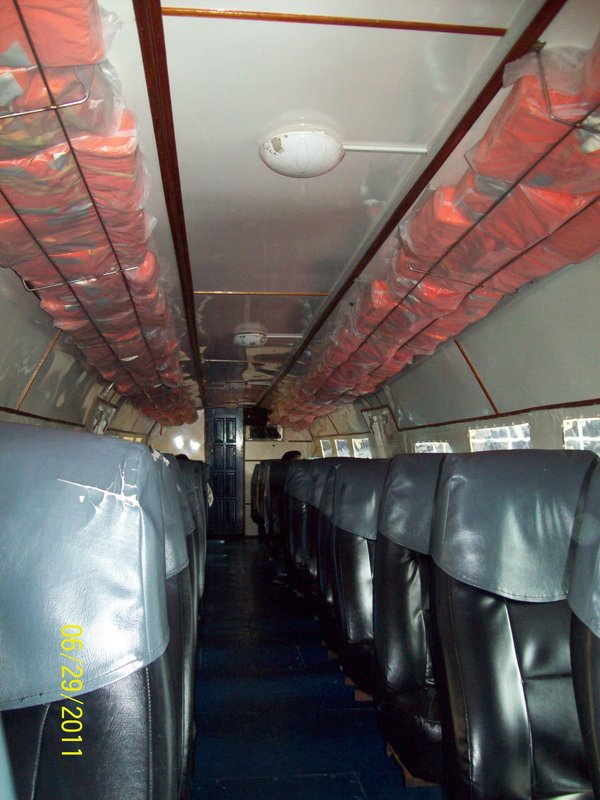 Inside View of Transportation to Pulau Ketam