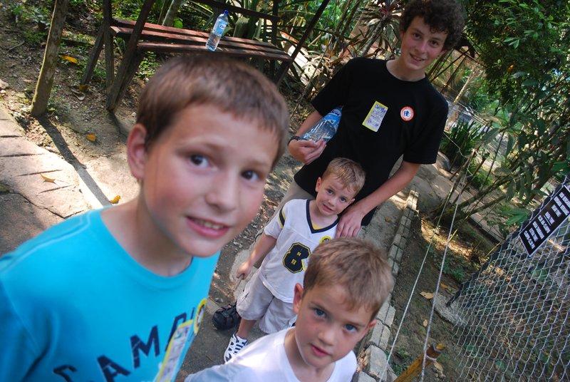 Alex, Thad, Bennet and Ridgley at Deerland