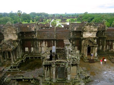 The view from the third level of the Angkor Wat complex. There is jungle for days!