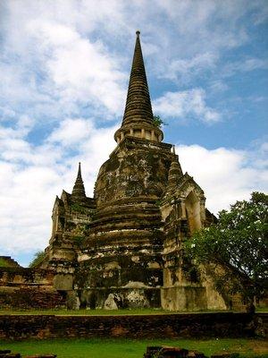 One of the three chedis of Wat Sri Sanphet