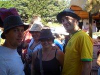 Hats on in Recoleta Market...